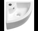 Gynt AR154 keramické umývadlo rohové 33x13x33 cm, na dosku