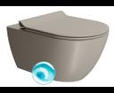 Pura 881505 WC závesné 55x36 cm, Swirlflush, tortora mat