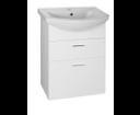Zoja 51051A umývadlová skrinka zásuvková 50,5x74x30 cm, biela