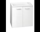 Zoja 51047A umývadlová skrinka 49x50x24,6 cm, 2 dvierka, biela