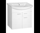 Zoja 51065A umývadlová skrinka 61,5x74x32 cm, 2x dvierka, 1x zásuvka, biela