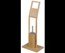 Bambus BI026 stojan s držiakom na toaletný papier a WC kefou