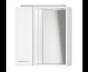 Zoja 45021 galérka s LED osvetlením, 60x60x14 cm, ľavá, biela