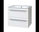 Mereo CN660 skrinka s umývadlom 60 cm, biela/biela