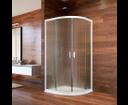 Mereo Lima CK608B02K sprchový kút štvrťkruh, 90x90 cm, biely ALU, sklo Point