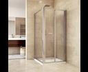 Mereo Mistica CK86134H sprchový kút, štvorec do rohu, 100x100x190 cm, chróm ALU, sklo Chinchilla