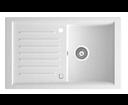 Novaservis DRG50/81W granitový drez s odkladacou plochou biely