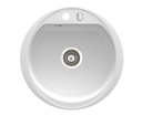 Novaservis DRG52W granitový drez kruhový biely
