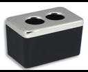 Novaservis Metalia 4 6422,5 dóza na kozmetické tampóny čierna