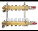 Novaservis RZ09 rozdeľovač 9-okruhový bez prietokomerov s guľovými ventilmi