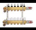Novaservis RZP04 rozdeľovač 4-okruhový s prietokomermi a guľovými ventilmi