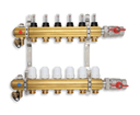 Novaservis RZP05 rozdeľovač 5-okruhový s prietokomermi a guľovými ventilmi