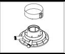 Protherm A1K adaptér na dymovody 60/100 mm ku kondenzačným kotlom