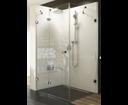 Ravak Brilliant sprchový kút BSDPS-80 L chróm / transparent ľavý