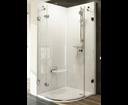 Ravak Brilliant sprchový kút BSKK3-80 L chróm / transparent ľavý