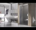 Ravak Matrix sprchové dvere MSD2-100 L biele / transparent