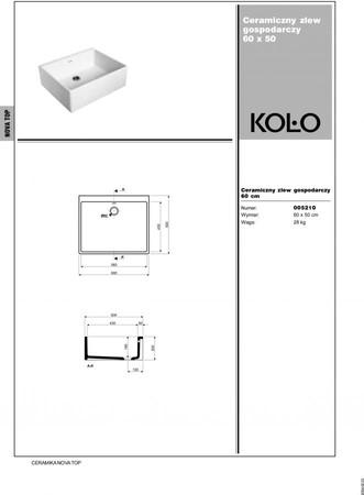 Kolo Nova Pro drez 60x50 cm 5210 keramický