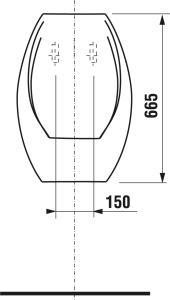 Jika Domino pisoár bez otvoru pre ventil H8411000000001