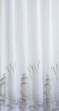 Aqualine 23032 sprchový záves 180x200cm, 100% polyester, kamene vo vode