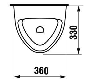 Jika Livo pisoár s vnútorným prívodom vody H8402000000001