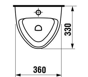 Jika Livo pisoár s vonkajším prívodom vody H8402010000001