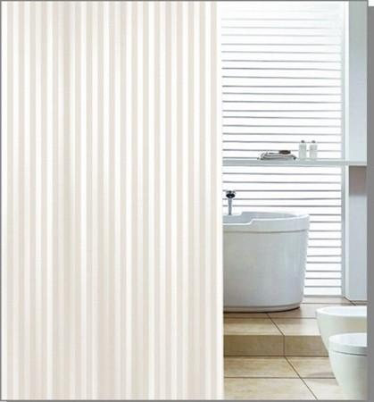 Aqualine ZP003 sprchový záves 180x200cm, polyester, béžový